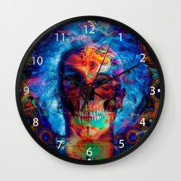 Skull psychodelicart Wall Clock