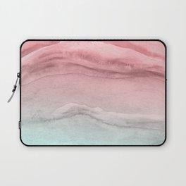 Agate Pattern Large - Pink Green Laptop Sleeve