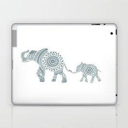 Mama Elephant Walking Baby Elephant Circle Art Laptop & iPad Skin