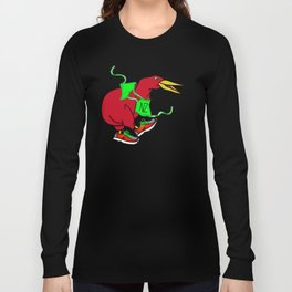Kiwi Wearing Running Shoes Long Sleeve T-shirt