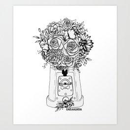 Grow in unfamiliar places Art Print