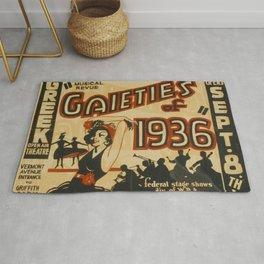 Gaieties of 1936 vintage poster Rug
