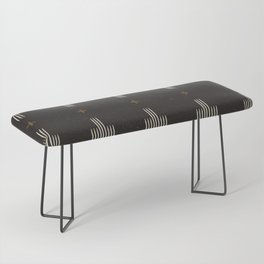 Southwestern Minimalist Black & White Bench