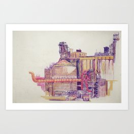 it smelled like bread at first Art Print