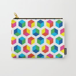 Geometric Pattern #90 (colorful cubes) Carry-All Pouch