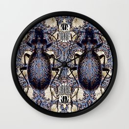 Beetles and Pimpernel Wall Clock