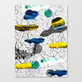 Space collage Canvas Print