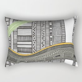 Hand drawn pattern wave Rectangular Pillow
