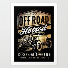 Off road Hotrod, Offroad car, auto, classic custom suv Art Print