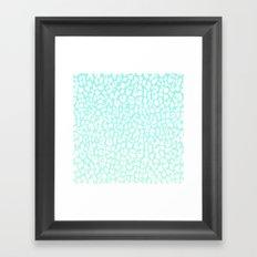 Winter Mint Leopard Framed Art Print