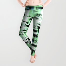 Abstract structure building house modern intricate pattern background Leggings