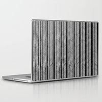stripe Laptop & iPad Skins featuring Herringbone Stripe by Project M