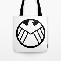 shield Tote Bags featuring SHIELD by Bastien13