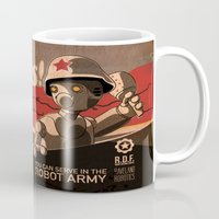 propaganda Mugs featuring Propaganda Series 6 by Alex.Raveland...robot.design.digital.art