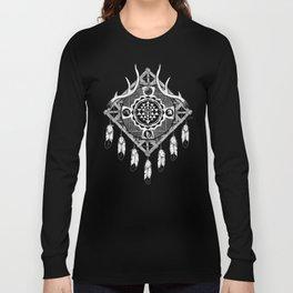 Sri Yantra Dreamcatcher Long Sleeve T-shirt