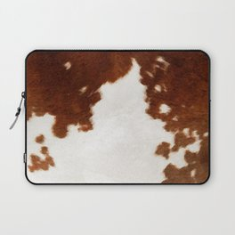 brown cowhide watercolor Laptop Sleeve