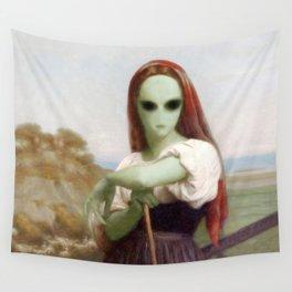 Bouguereau's Alien Shepherdess Wall Tapestry