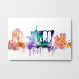 San Joce Watercolor Skyline Metal Print