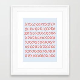 Tic Tac Toe (XOXO) Framed Art Print