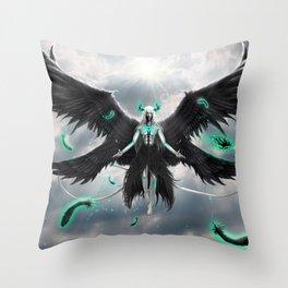 Tormenta De Murcielago Throw Pillow