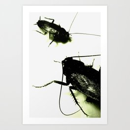 Evil Toxic Cockroaches Art Print