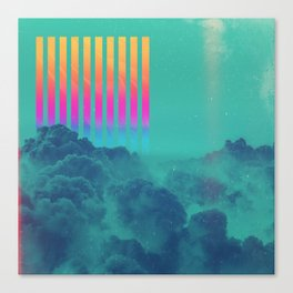 Striped sky Canvas Print