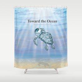 Toward the Ocean Shower Curtain