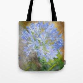 Agapanthus in Blue Tote Bag