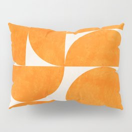 Geometric Shapes orange mid century Pillow Sham