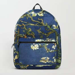 Almond Blossom - Vincent Van Gogh (dark blue) Backpack