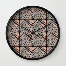 Curlicue Shadows  Wall Clock