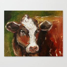 Cow Portrait Canvas Print