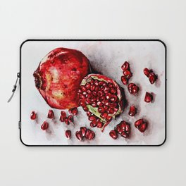 Red pomegranate watercolor art painting Laptop Sleeve