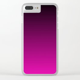 Black and Magenta Gradient Clear iPhone Case