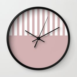 Bold pink stripe Wall Clock