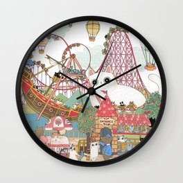 the Day of the rollercoaster Wall Clock