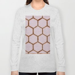 Copper sorbet geometric beehive - touch of onyx Long Sleeve T-shirt