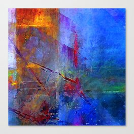 Intensity of Blue Digital Painting Canvas Print