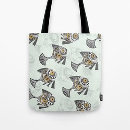 peaceful swimming mint Tote Bag