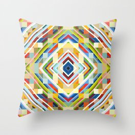 Scylla - Colorful Decorative Abstract Art Pattern Throw Pillow