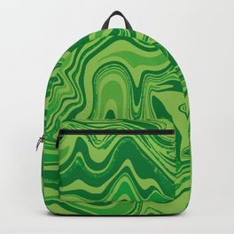 Green Agate Liquid Marble Backpack