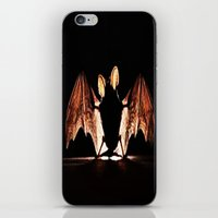 bat iPhone & iPod Skins featuring bat by new art