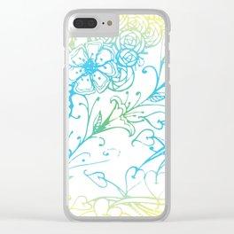 Floral Colorful Zenart Doodle Design 4 Clear iPhone Case