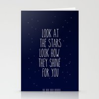 coldplay Stationery Cards featuring Look How They Shine For You by Adel