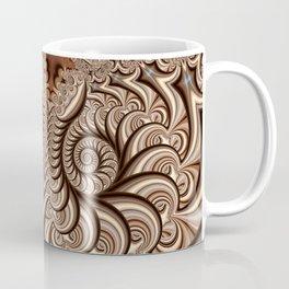 Owl Fractal Chocoate Coffee Mug