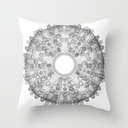 GEOMETRIC NATURE: SEA URCHIN w/b Throw Pillow