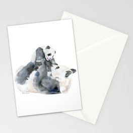 Mother and Baby Panda Bears Stationery Cards