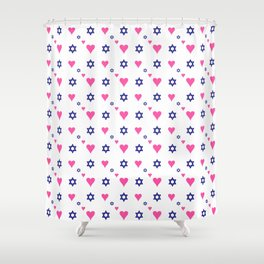 heart and star of david Shower Curtain