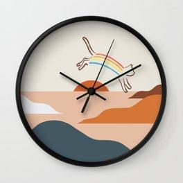 Cat Landscape 31C Wall Clock
