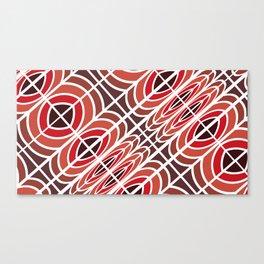 Red pattern geometric Canvas Print